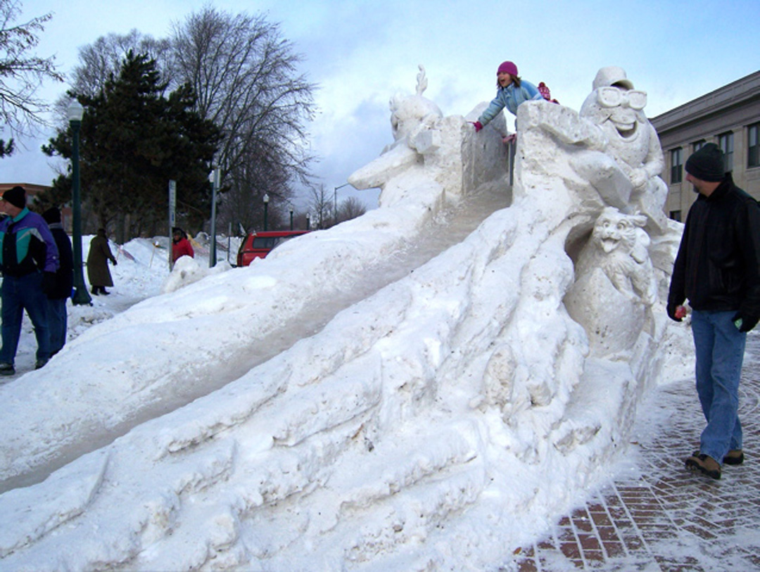 The Awesome Foundation : Lightening Fast Snow Slide